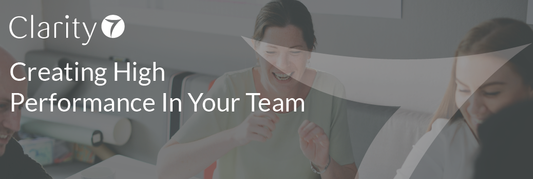 Creating High Performance In Your Team